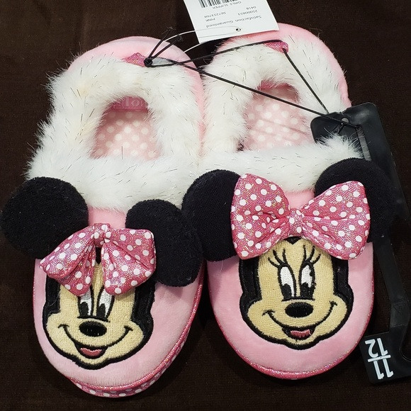 Brand New Toddler Girls Disney Minnie Mouse Boot Slipper Size 9//10